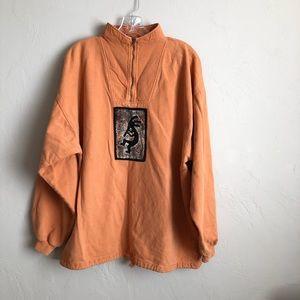 Vintage By Taylor Baja Style Orange Sweater